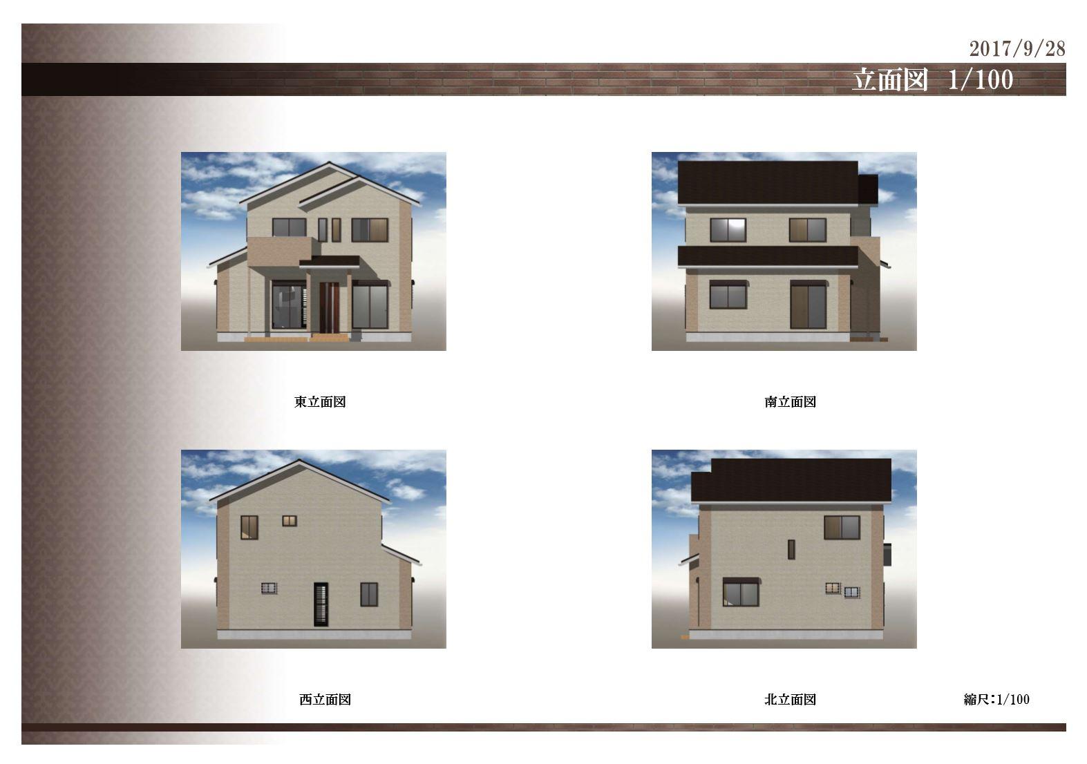 MIYACOCO 外観デザイン 立面図