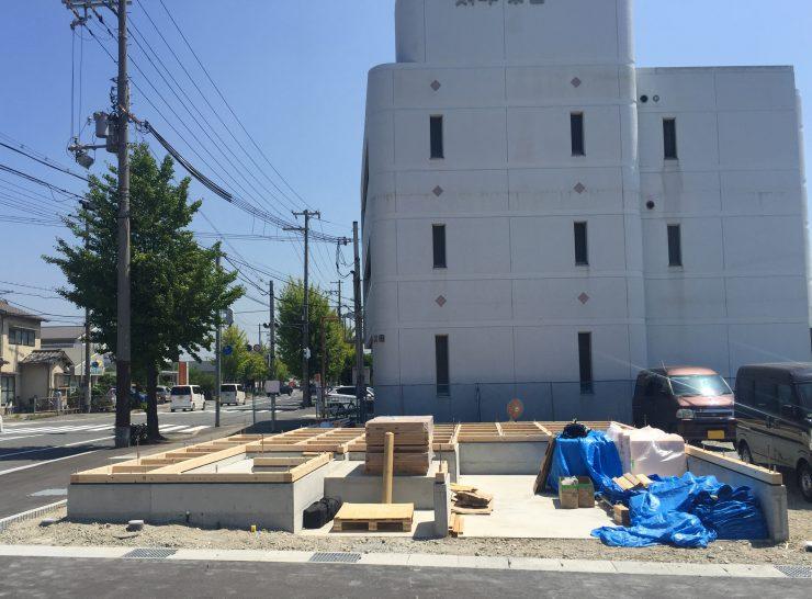 MIYACOCO モデルハウス 土台敷き
