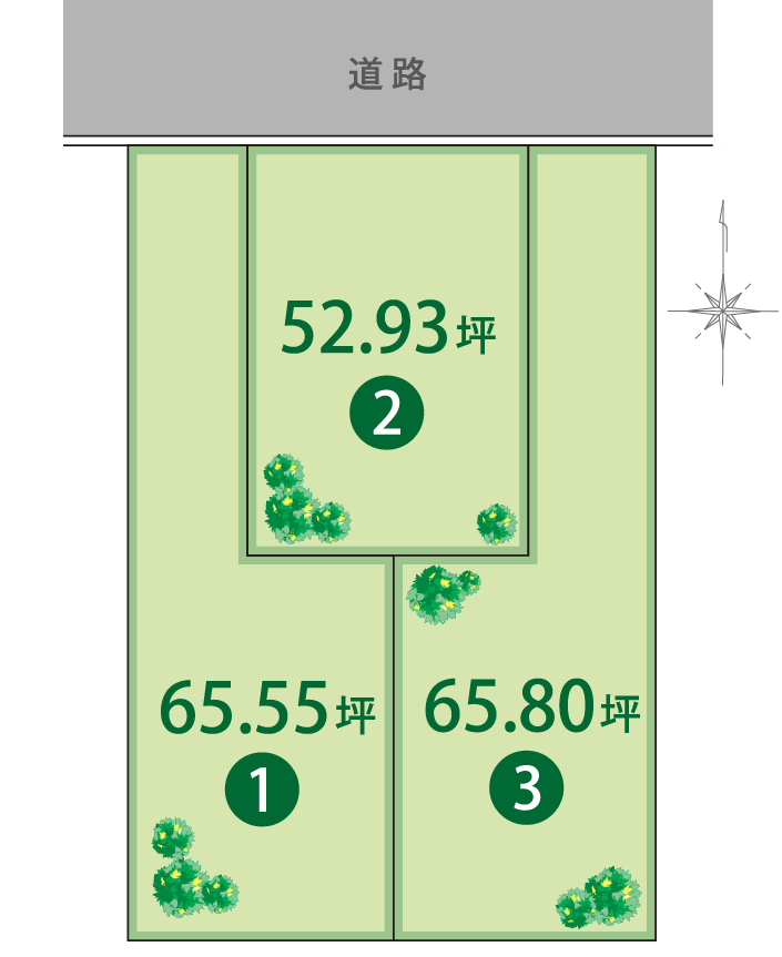 ココタウン矢倉販売区画図