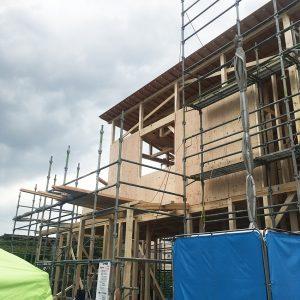 MIYACOCO 戸建新築工事 上棟。