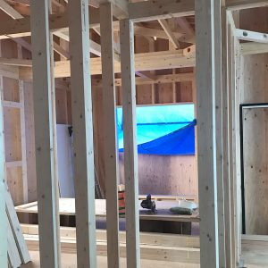 MIYACOCO 戸建新築工事 金物施工。