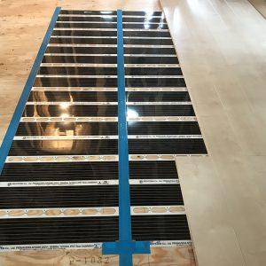 MIYACOCO 戸建新築工事 床暖房。