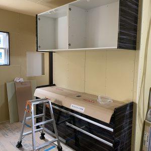 MIYACOCO 戸建新築工事 キッチン工事。