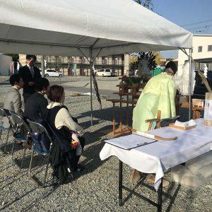 中浜L号地 戸建新築工事 地鎮祭。