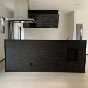 MIYACOCO 戸建新築工事 対面式キッチン。