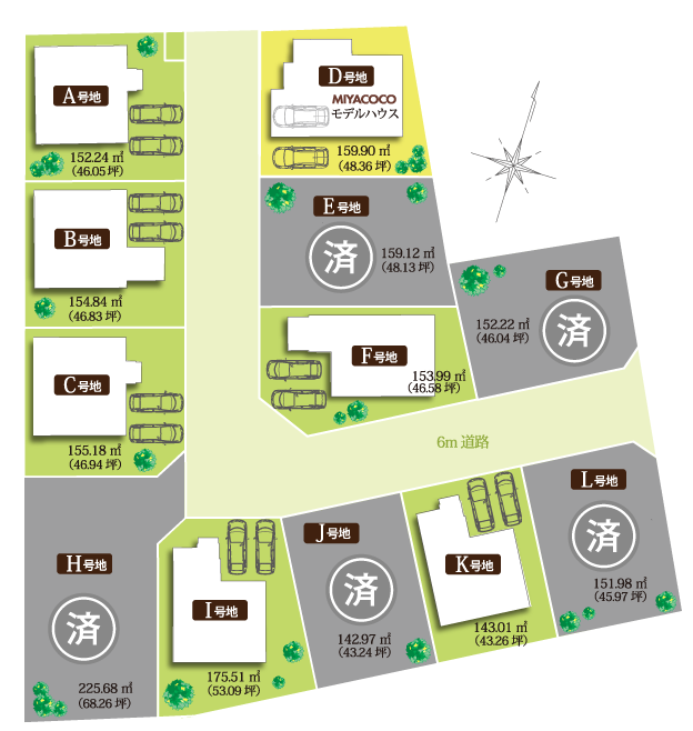 COCOタウン中浜 販売区画図