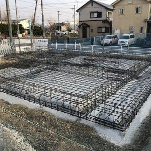 中浜L号地 戸建新築工事 配筋検査。