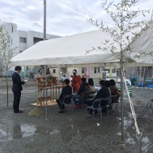 姫路市 戸建新築工事 T邸地鎮祭。